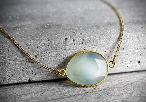 Le collier aigue-marine plaqué or