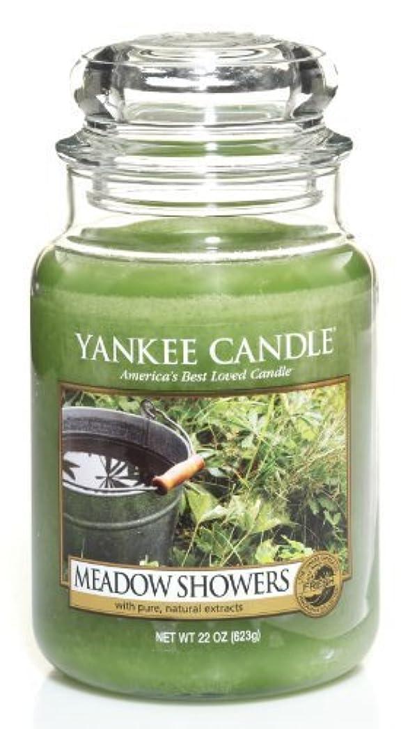 コンテンツうんざり痴漢Yankee Candle Meadow Showers Large Jar Candle、新鮮な香り