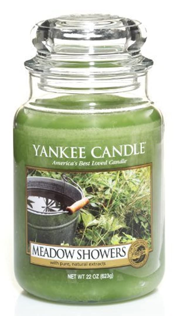子孫葉巻ベットYankee Candle Meadow Showers Large Jar Candle、新鮮な香り