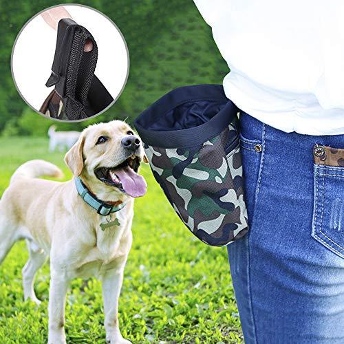 AYADA Leckerlibeutel Futterbeutel für Hunde, Wasserfest Hunde Leckerlitasche Abwaschbar leckerlibeutel Snack Bag mit Clip & Öffnen, Futtertasche leckerli Beutel für Hundetraining und Ausbildung(Grün)