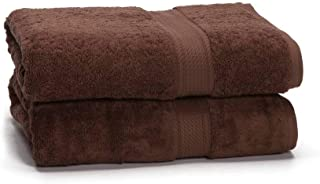 Long Staple Cotton Towel Set - 2-Piece 900 GSM - Heavy Weight & Absorbent by ExceptionalSheets Chocolate