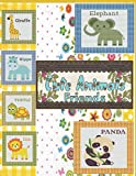 Cute Animals Friends: Cute animals cross stitch set of 6 patterns(Giraffe,Hippo,Turtle,Lion,Elephant,Panda)Funny nursery embroidery colorful design ... full stitches. They are suitable both for