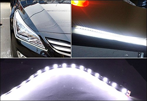 XT AUTO White 12v 15 Led 30cm Car Flexible Waterproof Underbody Light Strip Pack of 20