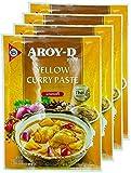 Aroy-D Pasta de Curry Amarillo 4x50g