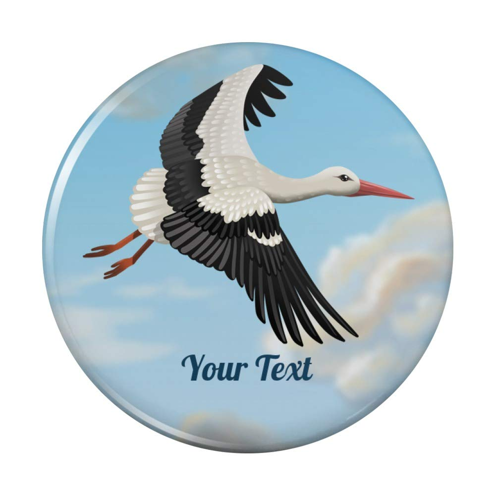 Personalized Custom favorite 1 Line Stork Compact Hand Purse Cosme cheap Pocket