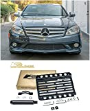 Extreme Online Store Replacement for 2008-2011 Mercedes Benz W204 C-Class Sedan No PDC Models | EOS Plate Version 1 Front Bumper Tow Hook License Relocator Mount Bracket Tow-216 (Mid Size)