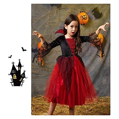 XILIN-1987 Capa Halloween para Adultos Disfraz de Halloween Partido Carnaval Halloween Adultos Adultos Gótico Vampire Traje Fantasía Príncipe Princess Vampire Cosplay, A Capa Infantil Halloween