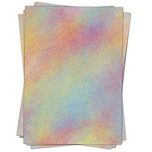 Briefpapier Design-Motiv Regenbogen Sand - 50 Blatt, DIN A4 Format, Bastel-Papier beidseitig bedruckt
