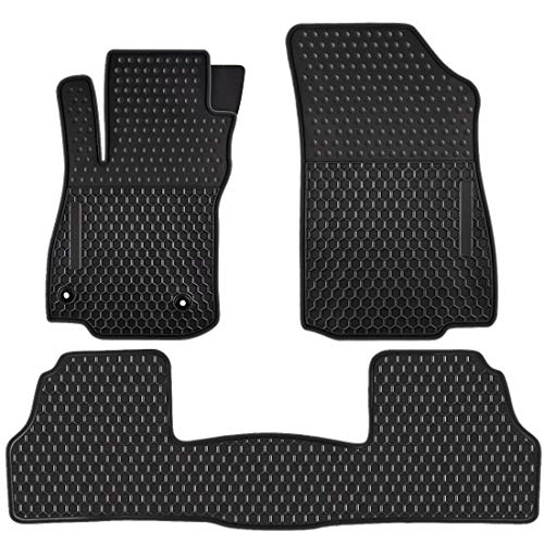 Ucaskin Car Floor Mats Custom Fit for Buick Encore 2021 2020 2019 2018 2017 2016 2015 2014 2013/2014-2021 Chevrolet Chevy Trax Odorless Washable Rubber All Weather Car Floor Liner Black