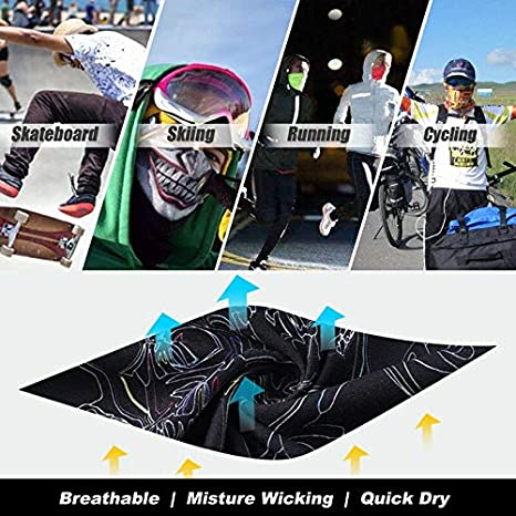 3D Skull Animal Face Scarf Tube Scarf Funny Skiing Cycling Headband Practica#L^
