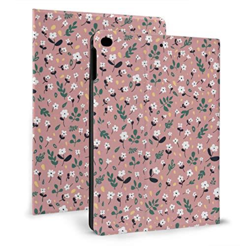 JIUCHUAN Ipad Kids Cover Spring Flowery Apple Flowers Custom Ipad Case For Ipad Mini 4/mini 5/2018 6th/2017 5th/air/air 2 With Auto Wake/sleep Magnetic Soft Ipad Case
