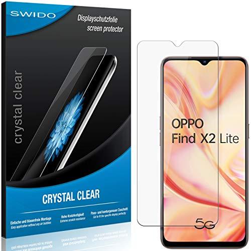 SWIDO Schutzfolie für Oppo Find X2 Lite [2 Stück] Kristall-Klar, Hoher Festigkeitgrad, Schutz vor Öl, Staub & Kratzer/Glasfolie, Bildschirmschutz, Bildschirmschutzfolie, Panzerglas-Folie