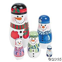 Nesting Snowman Family