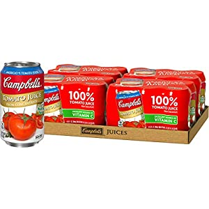 Campbell's Tomato Juice, 11.5 oz. Can, 6 Count (Pack of 4), Set of 2 |