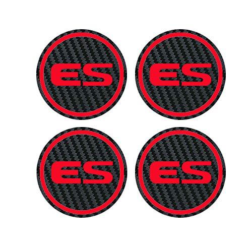 WOLHJ Tapacubos 50mm 56mm 60 mm Compatible con Lexus RX 300 GX 460 UX 200 LX GS ES CT200H FSPORT Badge Corte Corte Corte Caps HUB Aleación Llantas Pegatinas de la Rueda