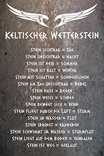 Melis Folienwerkstatt Schild - Keltischer Wetter-Stein - 30x20cm | Bohrlöcher | 3mm Aluverbund – S00352-003 20 VAR