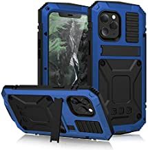 Simicoo Compatible with iPhone 12 Pro 6.1 Metal Case with Screen Protector Military Rugged Heavy Duty Shockproof Case with Stand Full Cover Tough case for iPhone 12 Pro 6.1 (Blue)