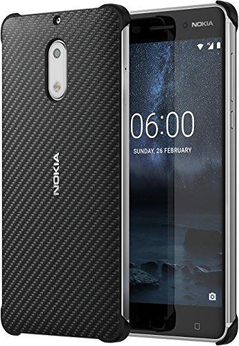 Original Nokia 1A21M9800VA Carbonfaser Design Hülle CC-802 für Nokia 6 onyx schwarz