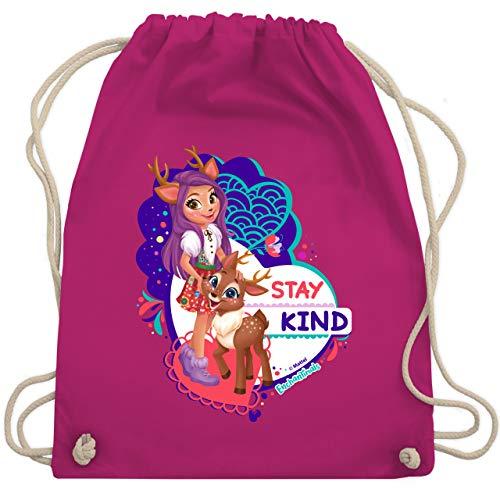 Shirtracer Enchantimals Tasche - Stay kind - Danessa Deer - Unisize - Fuchsia - Geschenk - WM110 - Turnbeutel und Stoffbeutel aus Baumwolle