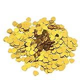 Toyvian Confeti Dorado en Forma de Corazón para Decoración Romántica de Fiesta Cumpleaños Boda Navidad 30 g