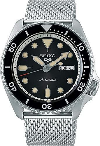 Seiko 5 Suits Herren-Uhr Edelstahl mit Metallband SRPD73K1