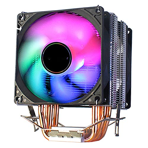 Torres gemelas CPU Cooler 90mm 4pin Ventilador de refrigeración para Intel LGA1150 1151 1155 1156 775 AMD AM3 AM4 Cooler RGB CPU Cooler para PC
