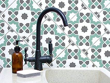 Tunis Tuile Motif Pochoir Peinture Murs Sols Meuble Marocain Tuile Decor Maison Reutilisable Geometrique Peinture Pochoir Xxl 60x60cm Amazon Fr Cuisine Maison