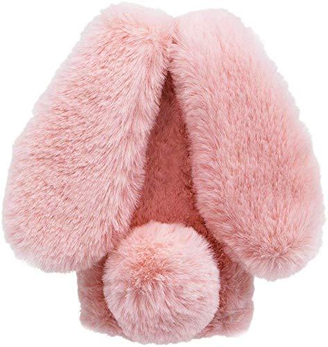 Xifanzi Plüsch Hülle für LG K42 Plüsch Hase Kaninchen Handyhülle Schutzhülle Niedlich Pelzigen Hase Winter Weich Warm Flauschige Schale Etui Tasche Hülle Cover für LG K42,Rosa