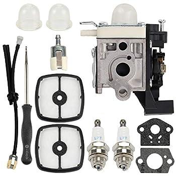 Wellsking RB-K93 Carburetor for Echo SRM225 SRM225i SRM225U SRM225SB GT225 GT225i GT225L GT225SF PAS225 PE225 PPF225 SHC225 A021001690 A021001691 Trimmer W/Tune Up Kit