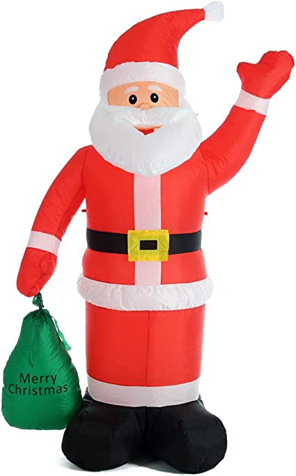 Babbo Natale Gonfiabile Decorazione Esterna Natalizia Luminoso Led 3,5M Addobbi