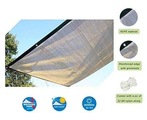 Insun Toldo contra el Sol y Rayos UV Vela de Sombra para Exterior Parasol Rectangula protección UV Caqui 400 x 300 cm