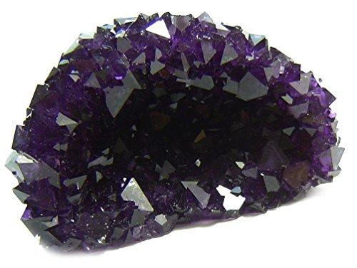 Budawi® - Alaun-Drusen ca. 70x40x40 mm, Kristalldrusen, amethystfarbenen Zuchtkristalldrusen