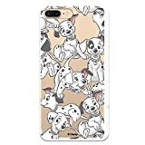 Funda para iPhone 7 Plus - iPhone 8 Plus Oficial de 101 Dálmatas Cachorros Siluetas para Proteger tu móvil. Carcasa para Apple de Silicona Flexible con Licencia Oficial de Disney.