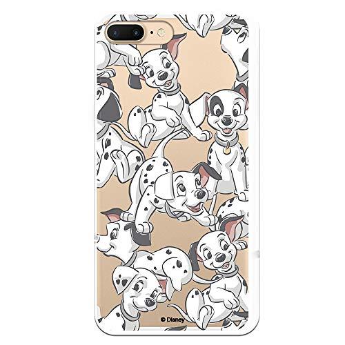 Funda para iPhone 7 Plus - iPhone 8 Plus Oficial de 101 Dálmatas Cachorros Siluetas para Proteger tu móvil. Carcasa para Apple de Silicona Flexible con Licencia Oficial de Disney.