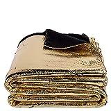 Crack-Decke – softe Kuscheldecke – Tagesdecke im glitzernden, individuellen Antik-Erscheinungsbild – 145x200 cm – 100 gold – von 'zoeppritz since 1828'