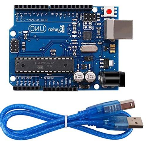 Canjerusof UNO R3 für Arduino MEGA328P ATMega16U2 1pcs UNO R3 Entwicklungs-Board/Kabel