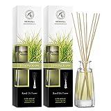 Diffusore a Lamella Fragranza Set Lemongrass - 2x100ml - Diffusore con Olio Essenziale Lem...