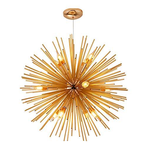 Sputnik Lámpara Colgante 12 Cabezas Oro Lámpara De Araña Nórdico Lámpara Colgante...