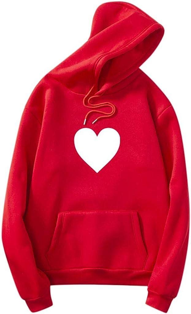 Girls' Hoodie, Misaky Autumn & Winter Casual Love Print Pocket Long Sleeve Pullover Sweatshirt Tops Blouse