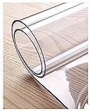 Mantel Transparente de PVC, Protector De Cubierta De Mesa Transparente Mantel Plastico Transparente Rectangular Tapete De Mesa Anti-Calor,Mantel Transparente, Lavable(Color: L:180cm,Size: W:90cm)
