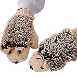 Yying Winterhandschuhe/Frauen-Karikatur-Igel-Handschuhe verdicken Handwärmer alle Fingerhandschuhe...