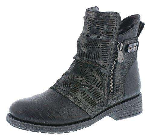 Remonte Damen Biker Boots D8073,Frauen Stiefel,Stiefelette,Halbstiefel,Bikerstiefelette,Bootie,flach,Blockabsatz 3.5cm,schwarz/antracite/schwarz/schwarz / 02, EU 41