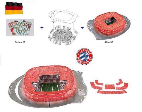 3D Puzzle Fussballstadion Allianz Arena München Deutschland Fußball-Stadion