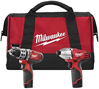 Milwaukee 2497-22 M12 12V Cordless Lithium-Ion 2-Tool Combo Kit Hammer Drill & Impact Driver