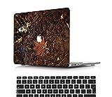 NEWCENT Nuevo MacBook Air 13' Funda,Plástico Ultra Delgado Ligero Cáscara Cubierta EU Teclado Cubierta para MacBook Air 13 Pulgadas con Retina Display Touch ID(Modelo:A2337 M1/A2179),Flores A 0339