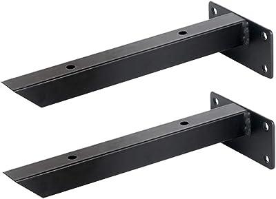 escuadras para estanterias Soporte de estante plegable colgante resistente, esquina de ángulo recto de metal en forma de L Bastidor, estante de microondas Estante, equipado con tornillos, 2 piezas: Amazon.es: Hogar