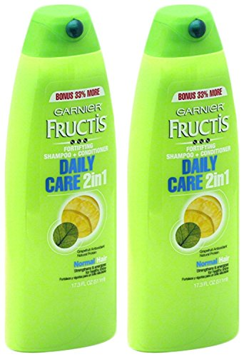 Garnier Fructis Daily Care 2-in-1 Shampoo and Conditioner, Twin Pack 17.3 Ounce Each