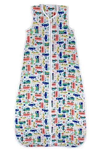 Schlummersack Kinderschlafsack für den Sommer aus Bambus-Musselin 0.2 Tog - Autos - Jungen - 3-6 Jahre/130 cm