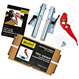 Woodcut Tools Tru-Grind Turning Tool Premium Sharpener System including a superior versatile Jig with Two Base Slides for Lathe Woodturning Tools TRUGR 01