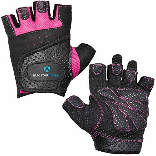 #DoYourFitness Fitnesshandschuhe »Aphrodite« / Damen Trainingshandschuhe für Workout Gewichtheben Bodybuilding schwarz/pink L